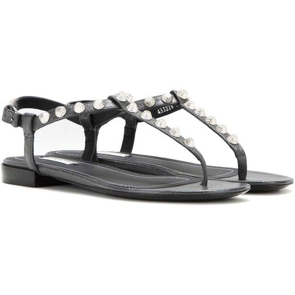 c870e33f5300 Balenciaga Arena Giant Stud Leather Sandals ( 575) ❤ liked on Polyvore  featuring shoes