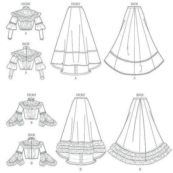 Historical Dress Pattern Butterick B5970 Victorian / por SunshineRd ...