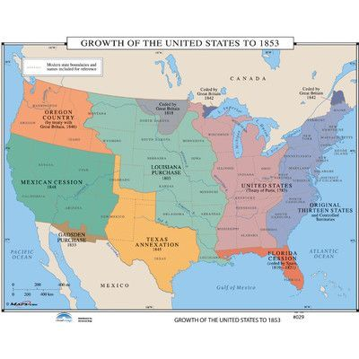 Universal Map U.S. History Wall Maps - Growth of U.S. to ...