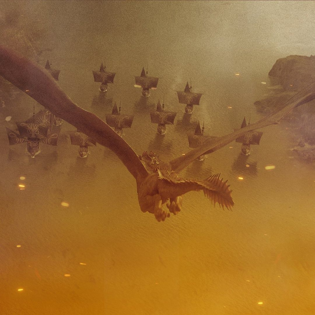 Daenerys Drogon And Iron Fleet