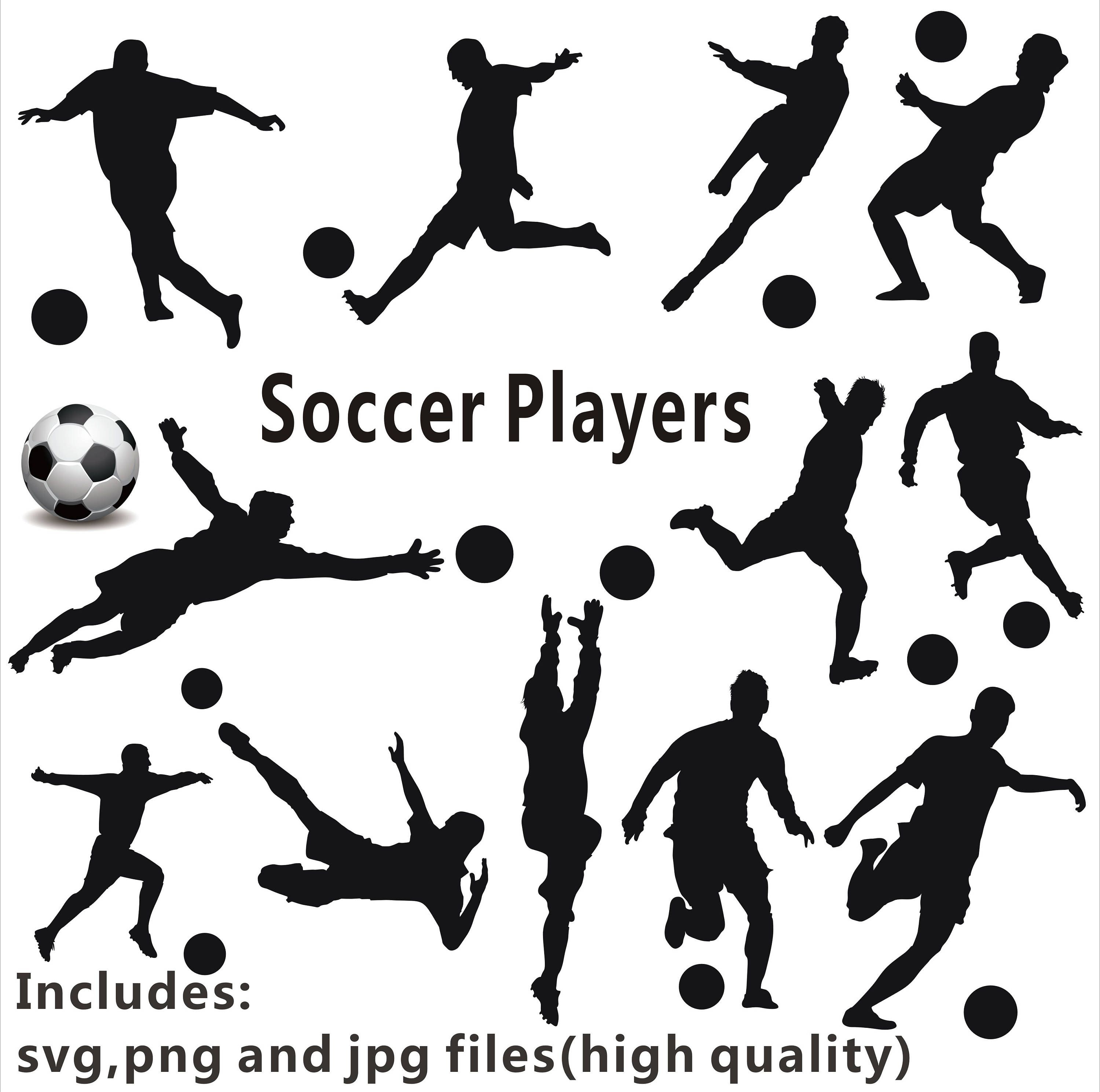 Soccer Silhouette Clipart Soccer Players Clipart Soccer Etsy In 2020 Soccer Silhouette Soccer Soccer Players