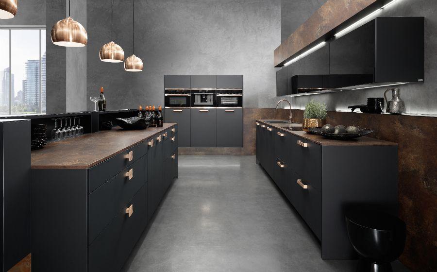 matt schwarze kchen | ziakia – ragopige, Wohnzimmer design