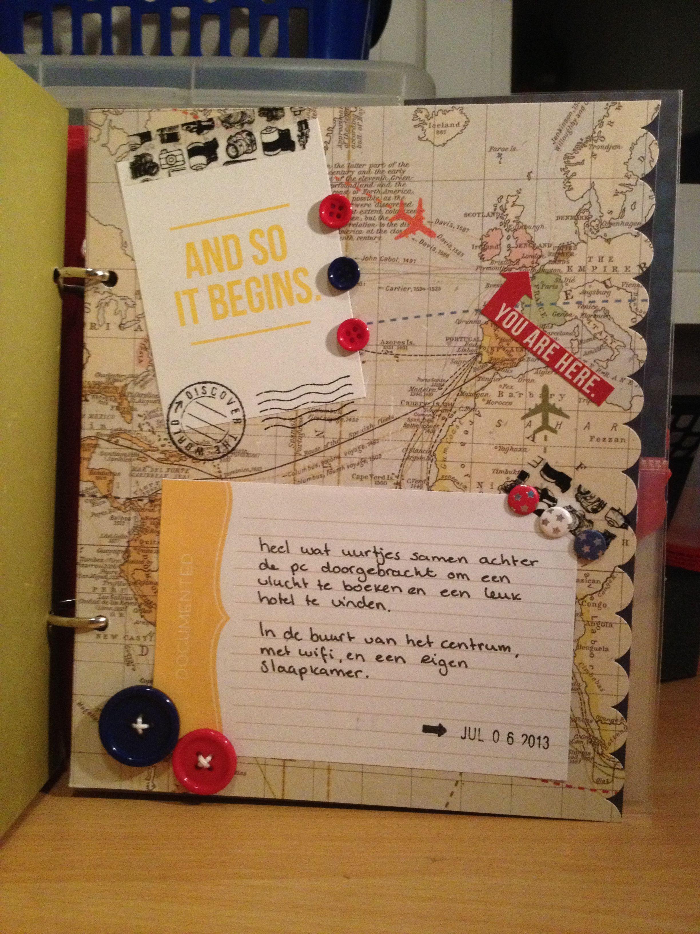 London scrapbook page