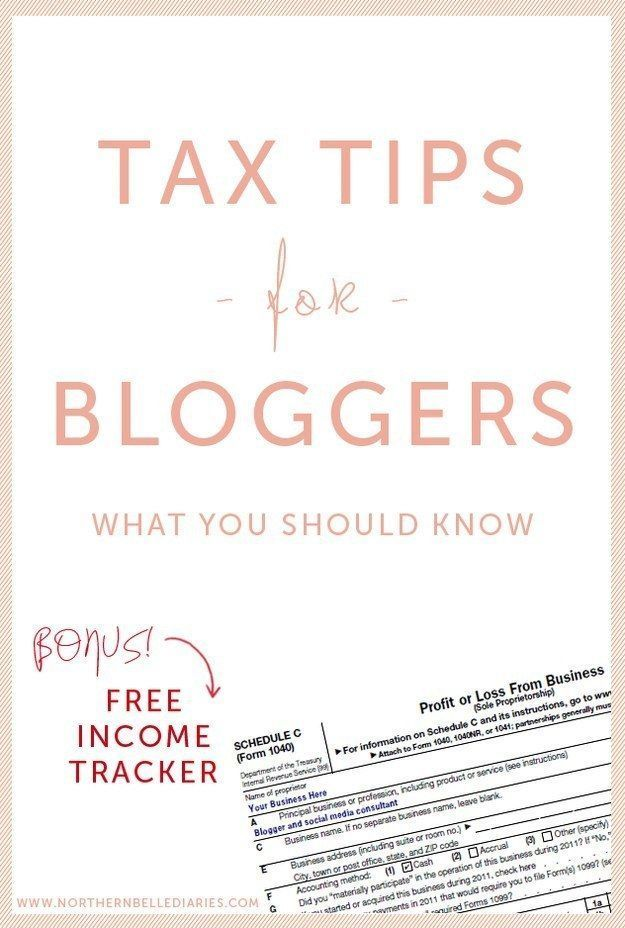 If you make money from your blog in any way, figure out if you
