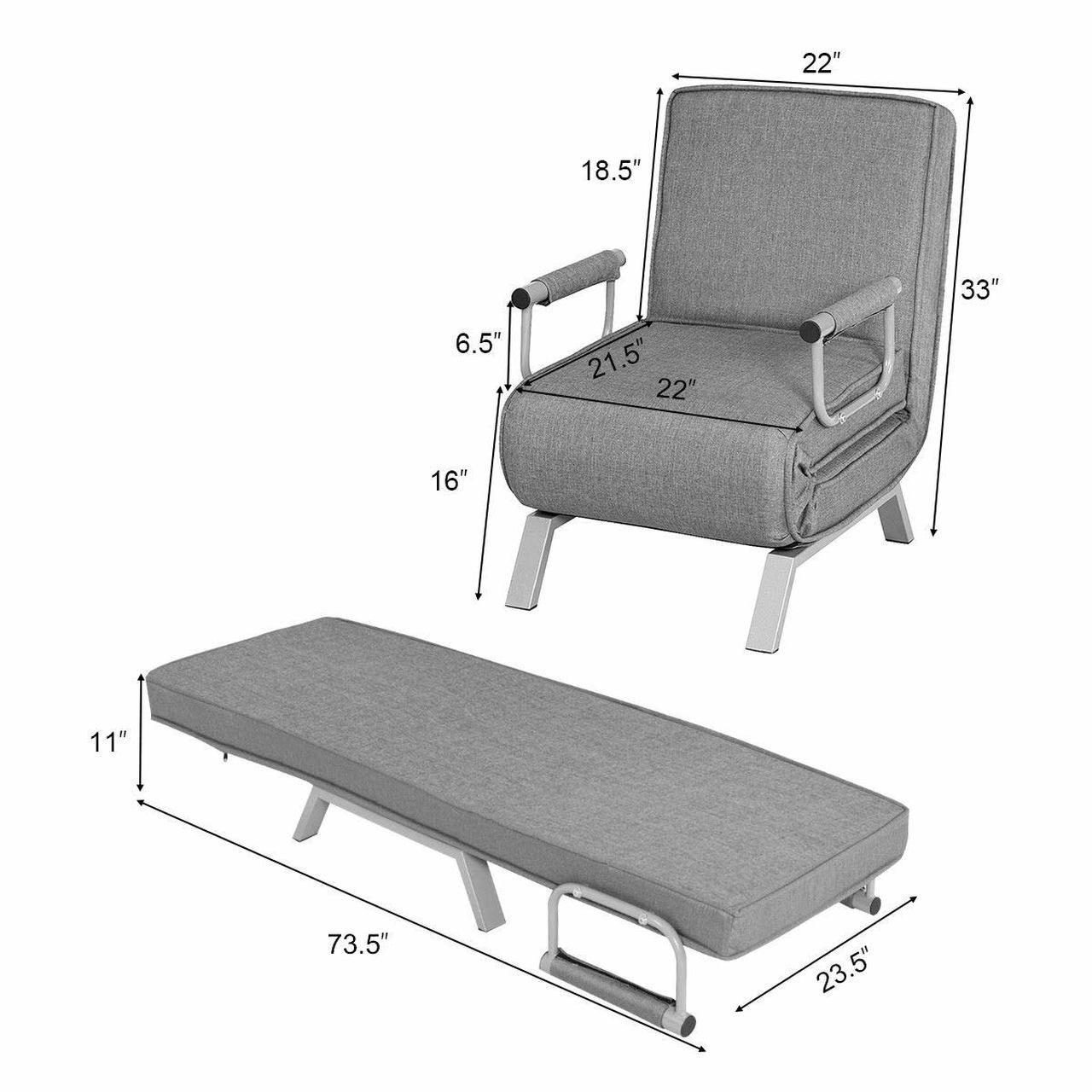 Rv Convertible Sofa Bed Folding Arm Chair Recpro In 2020 Convertible Sofa Bed Sofa Bed Convertible Sofa
