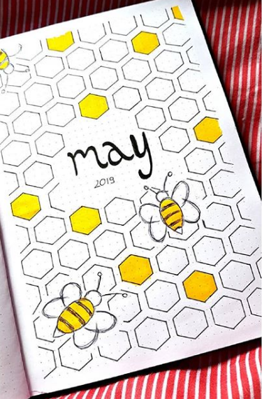 May Bullet Journal Ideas - Monthly Layout Spread | Cover Page | Setup | Today's Creative Ideas