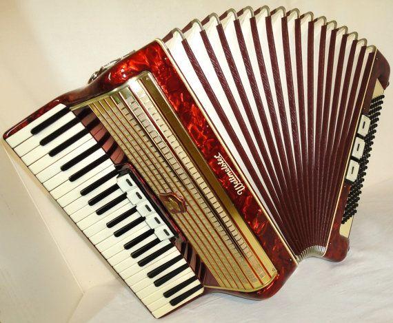 Vintage Original Classic German Piano ACCORDION ...