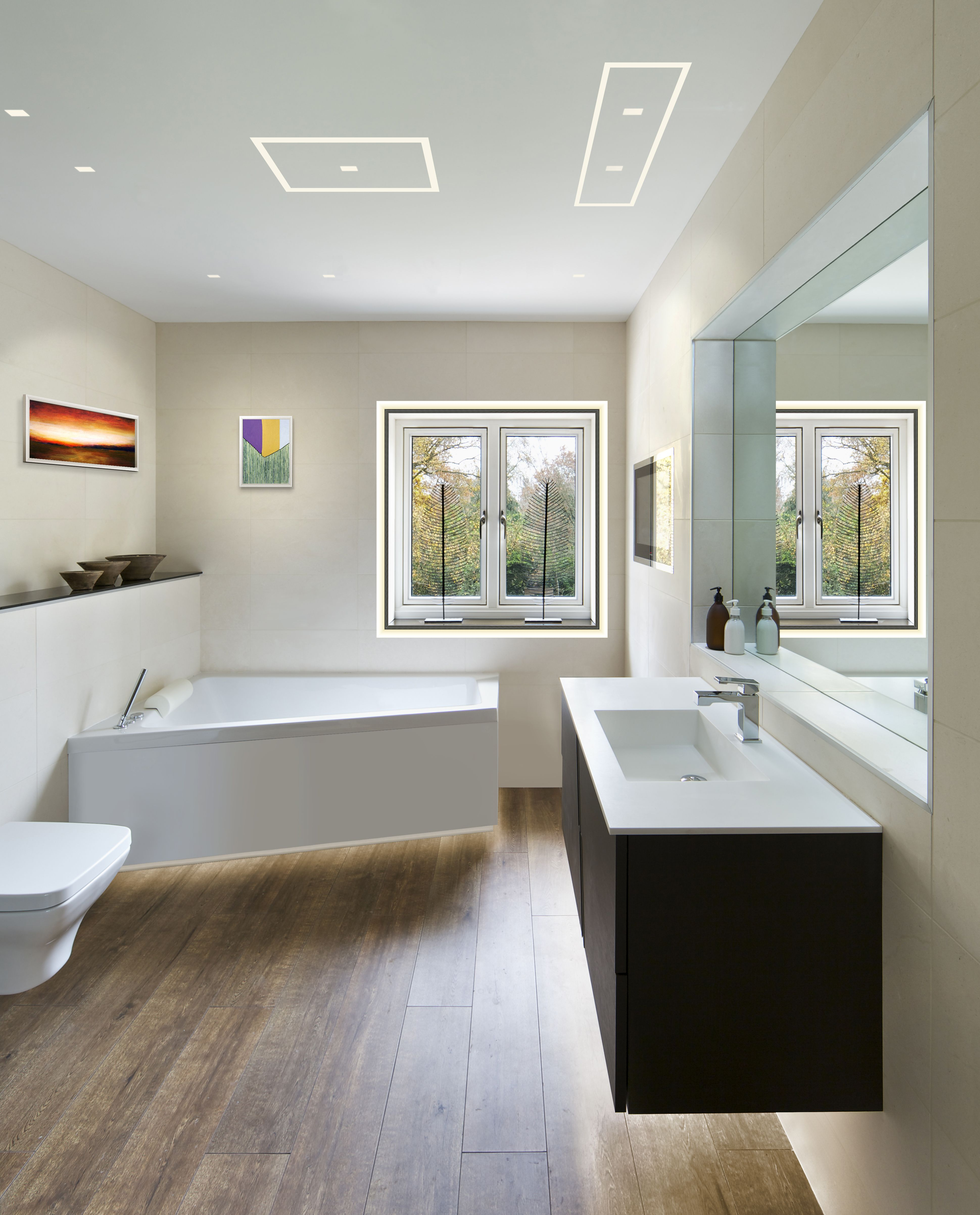 Contemporary Led Accent Light For Any Space Modern Led Lighting For The Bathroom Aurora