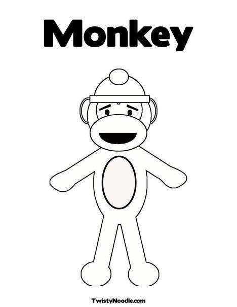 Sock Monkey Girl Colouring Sheets Kids Printable Enjoy Coloring