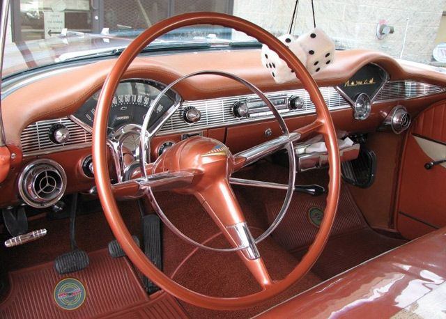 1956 Chevrolet Nomad Wagon Dash View 1956 Chevy Bel Air Chevy Nomad Chevrolet