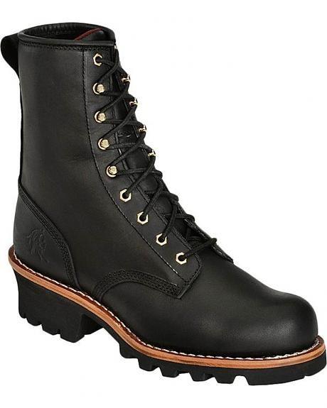 Chippewa Women's 8   Logger boots