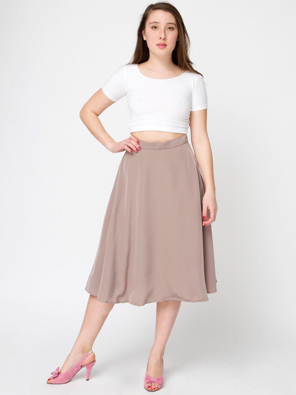 45eef6613 Mid Length Circle Skirt   dress up   Fashion, Skirts, High waisted skirt