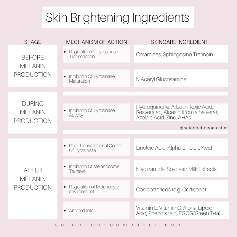 Science Becomes Her The Science Of Skincare Skin Brightening Skin Care Skin Treatments