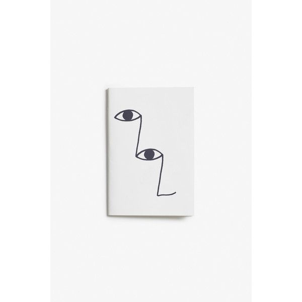 Monki Small lined notebook (13 RON) ❤ liked on Polyvore featuring home, home decor, stationery and print perfection