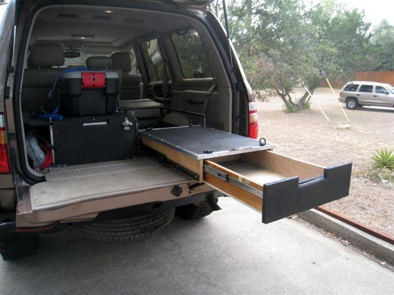 Custom Rear Storage Setup For 80 100 Series Land Cruisers Land Cruiser Truck Bed Storage Cruisers