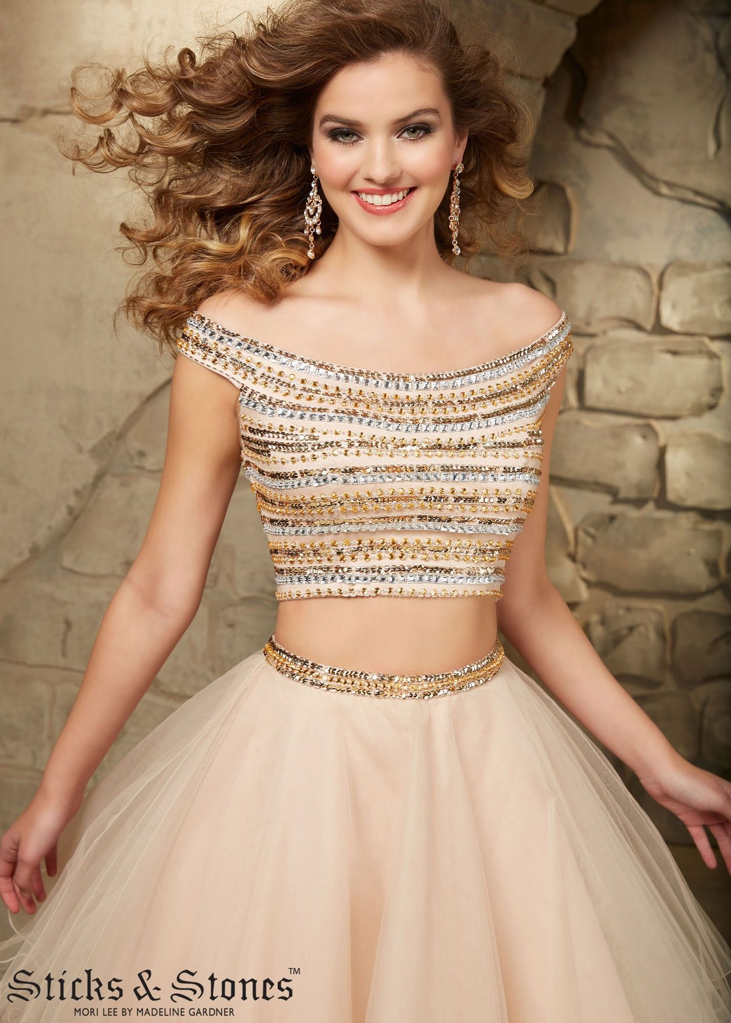 Mori Lee 9346 Nude Short Two Piece Ball Gown #RissyRoosHomecoming ...