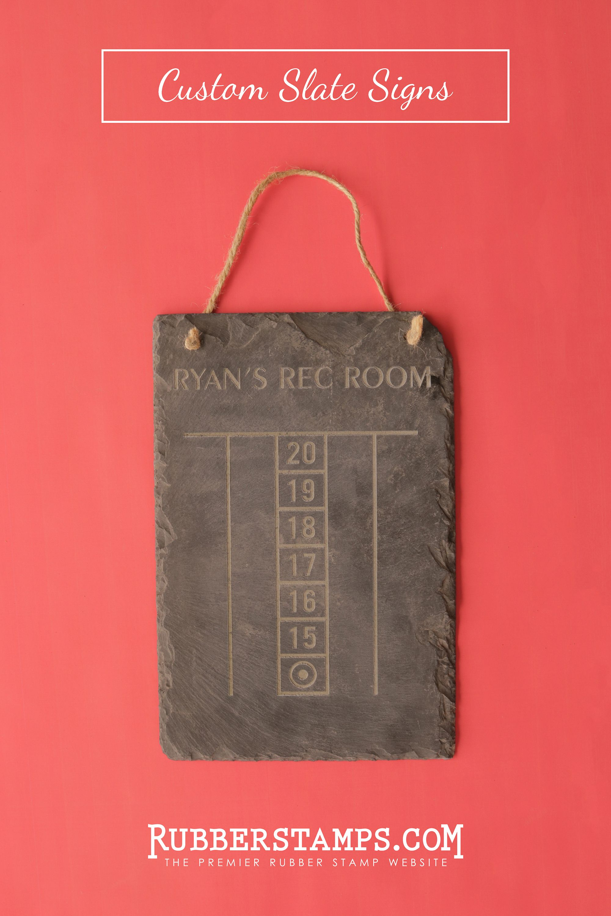 Engraved Custom Slate Signs Featuring A Natural Split Surface