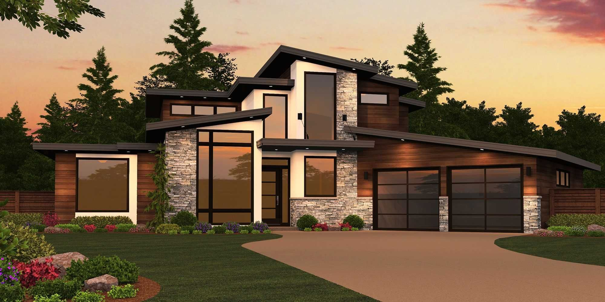 Beautiful White Farmhouse Exterior One Story Modern