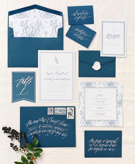 Wedding Invitations With Elegant Calligraphy Modwedding
