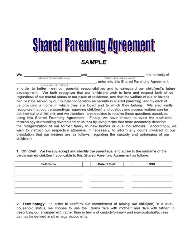 Child Custody Letter Sample