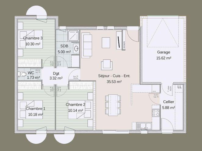 plan maison bois 4 chambres