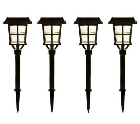 Alpan Set Of 4 Estate Collection Solar Path Lights Qvc Com Solar Path Lights Path Lights Solar