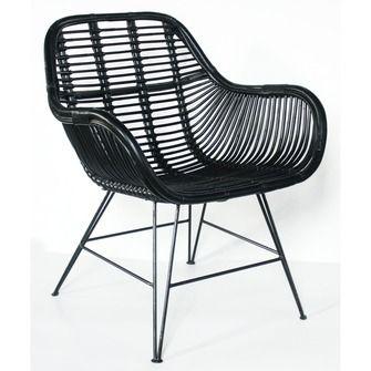 Top cheap stoel rattan zwart xx cm tuinstoelen tuin karwei for Plastic kuipstoel tuin