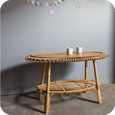 mobilier vintage et d coration scandinave rotin soleil et table. Black Bedroom Furniture Sets. Home Design Ideas