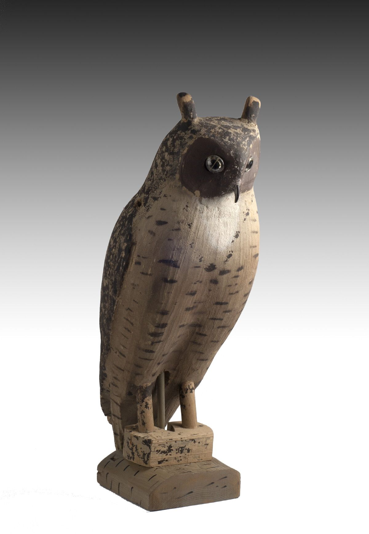 Herters carved and painted Great Horned Owl