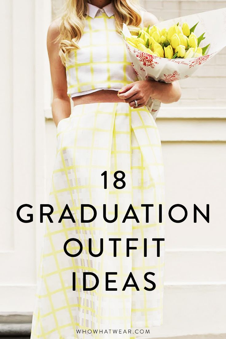 16 Cute Graduation Outfits For Every Style Type University Graduation Dresses Graduation Outfit Cute Graduation Outfits [ 1102 x 735 Pixel ]