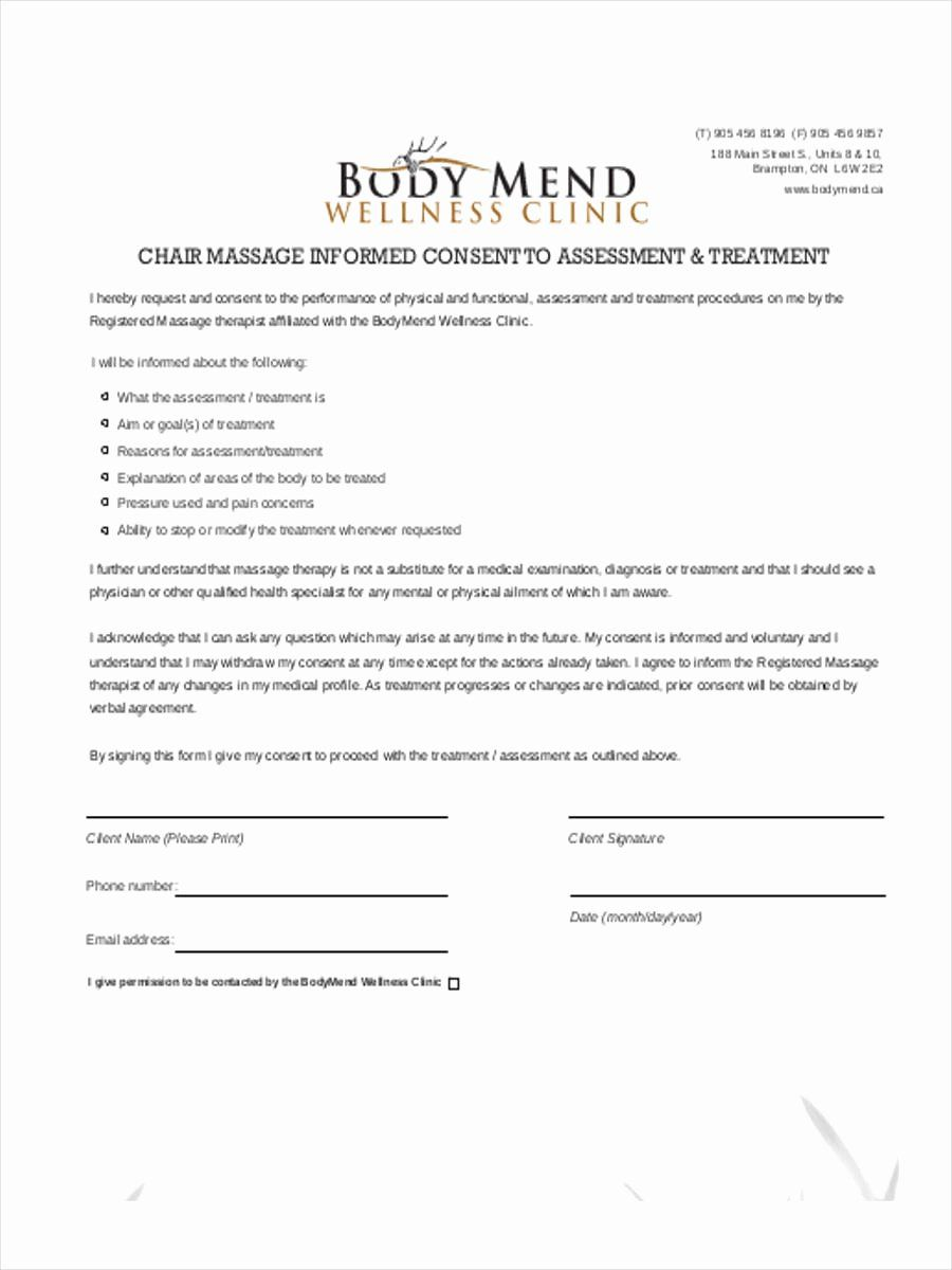 Massage Consent Form Template Awesome Free 14 Massage Consent Forms Receipt Template Consent Forms Teacher Lesson Plans Template