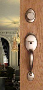 Entry Door Dummy Door Handle Handleset Landmark For Inactive Double Doors  Door Hardware In Brushed Nickel Finish By FPL Door Locks. $41.10.