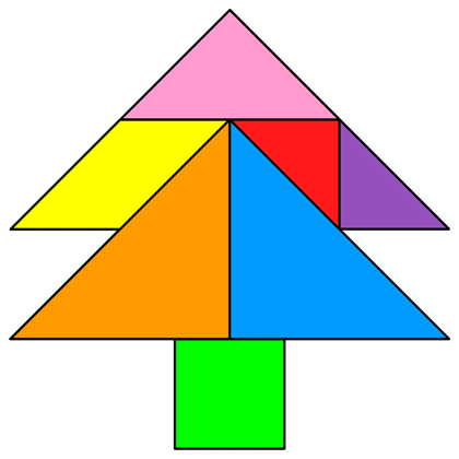 the solution for the tangram puzzle 267 tree