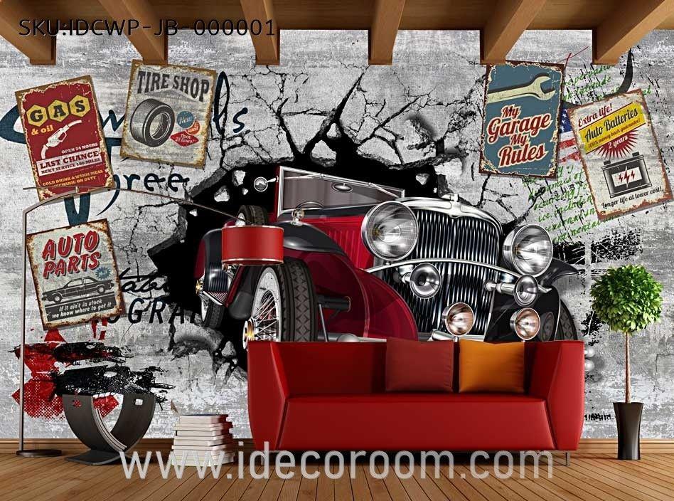 Custom Size Diy Living Room Wall Murals In 2019 Restaurant Wall