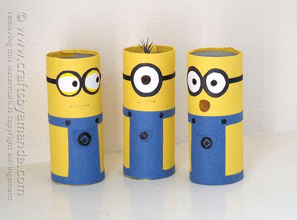 Fin Cardboard Tube Minions - Crafts by Amanda   Crafts by Amanda (the OG-06