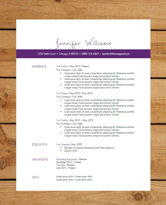 Resume Template Package Instant Download Microsoft Word Document - instant resume builder