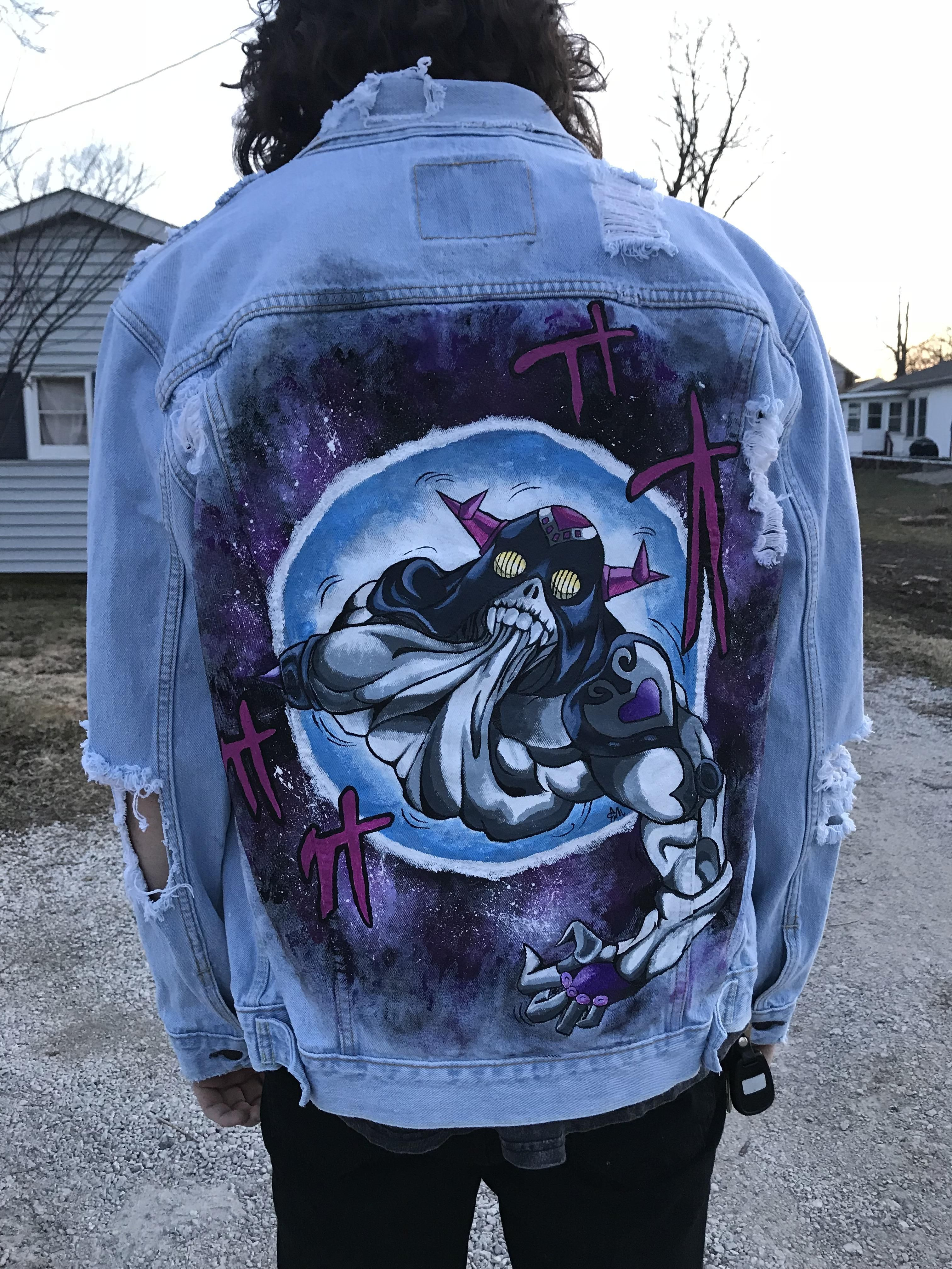 Pin by Mical A on Jojo's bizzare adventures Denim jacket
