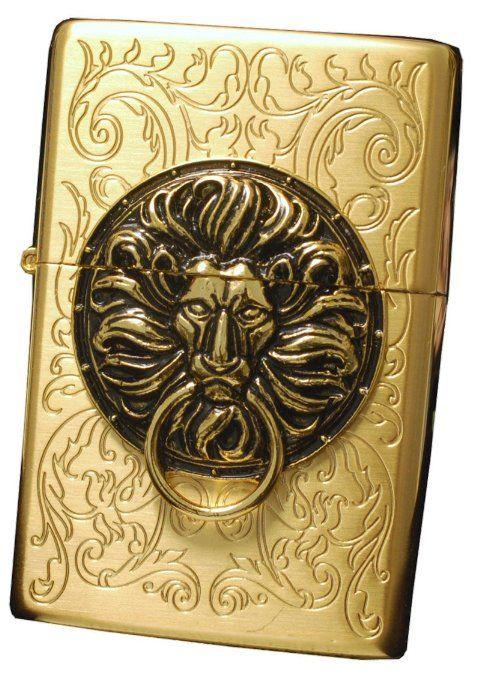 Amazon Com Zippo Lighter Genuine Tiger Lion Design The Gate Gd Emblem Health Personal Care Zippo Lighter Zippo Art Zippo