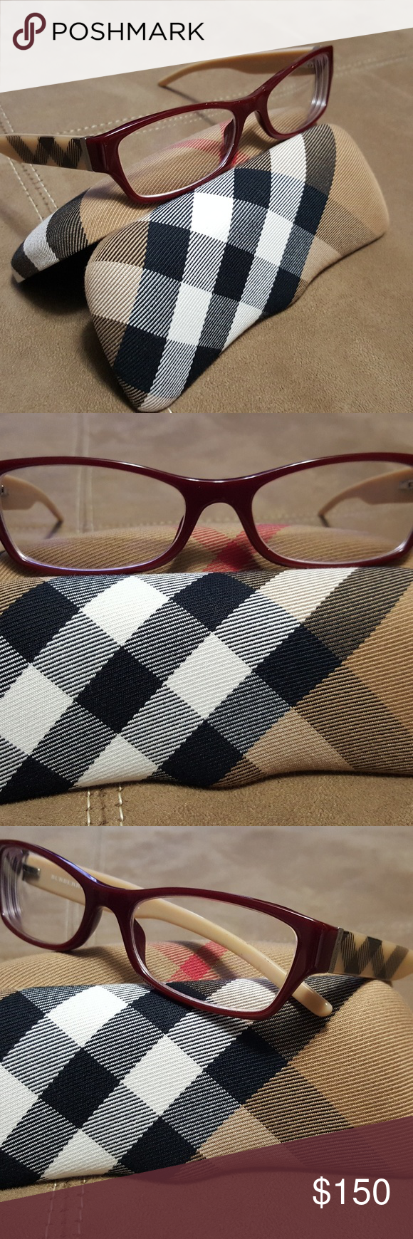 a8f716eecbd Burberry Eyeglasses Authentic Burberry 2094 Eyeglass frame. Still in really  good condition. Have barely