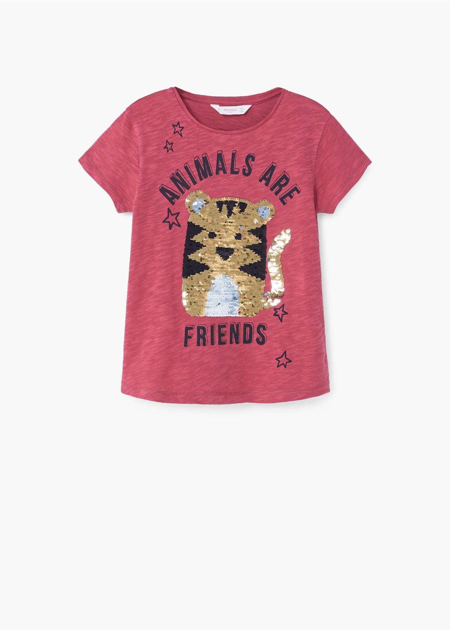 Camiseta lentejuelas reversibles - Niña  fa02a12410d