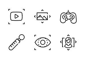 Virtual Reality True Line Black And White Icons By Boyko Pictures In 2020 Reality Virtual Reality Icon
