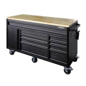 Husky Heavy Duty 60 In W 10 Drawer Deep Tool Chest Mobile Workbench In Matte Black Holc6010bb1m The Home Depot In 2020 Mobile Workbench Workbench Tool Chest