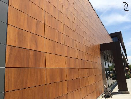 Project Provigo Boucherville Quebec Product Parklex Facade Copper Finish Architect Stendel Et And Reich Archi Cladding Design Exterior Cladding Facade