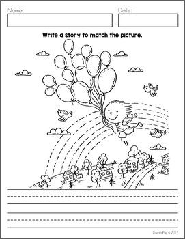 story writing based on given pictures