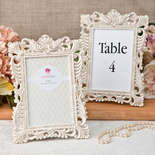20 Baroque Antique Ivory Table Number Frames With Gold Leaf In 2018
