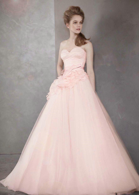 Strapless ball gown with satin corset bodice wedding weddingdress