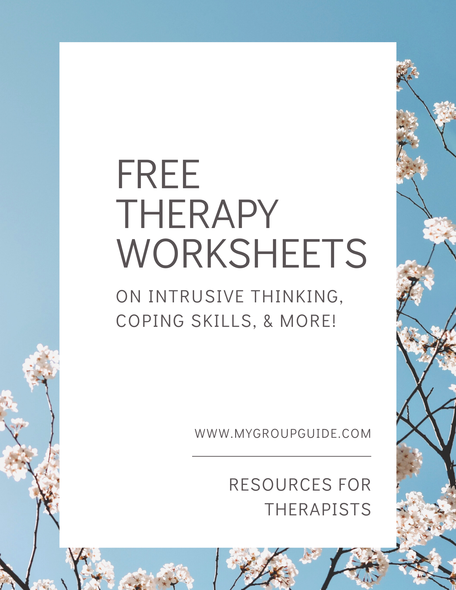 Free Therapy Worksheets In With Images