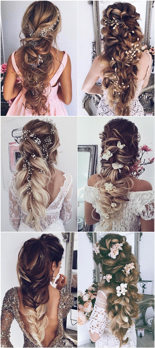 Photo of Loose hairstyles chic brides long Braid hairstyles for wedding 2018 #hairstyles … » Trends Ideen 2019 – Messy Bun Frisuren