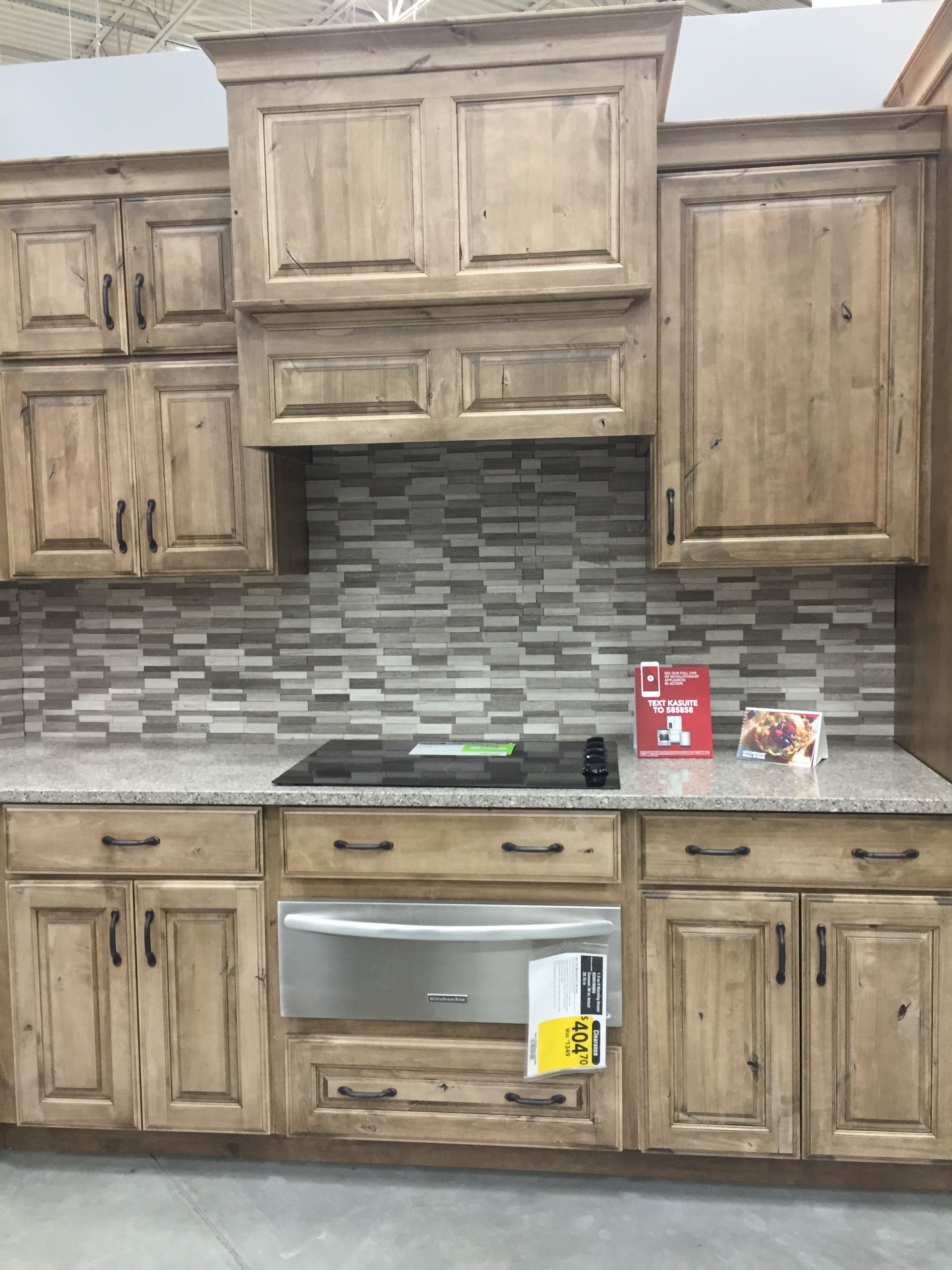Lowes Schuler Cabinetry Knotty Alder Cappuccino Kitchen