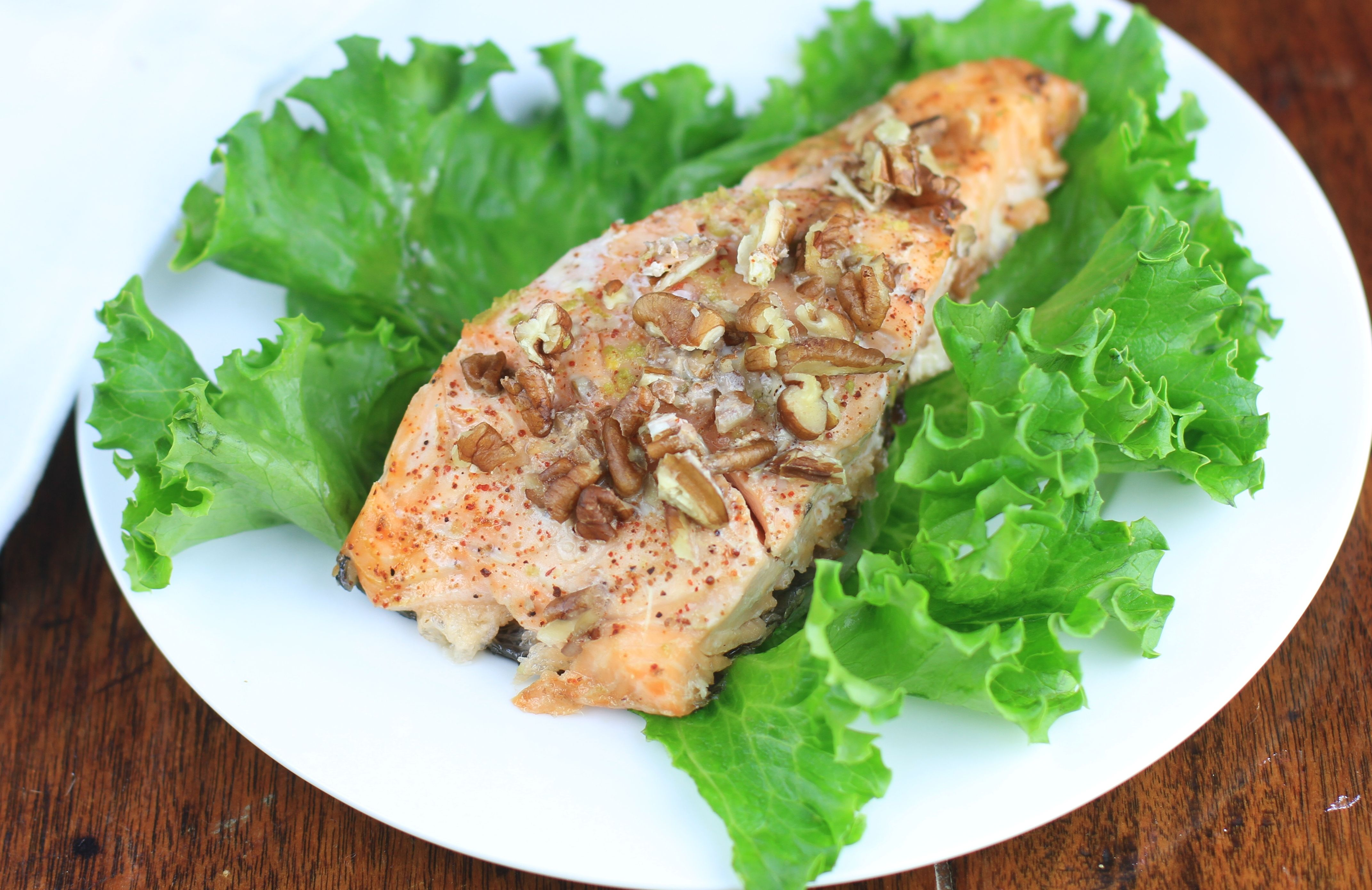 Pecan-Crusted Honey Lime Salmon with Quinoa Salad